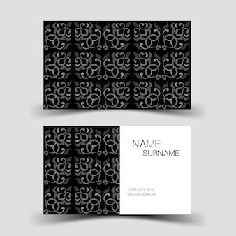 会社の抽象的な名刺からインスピレーションを得たモダンな名刺テンプレートデザイン