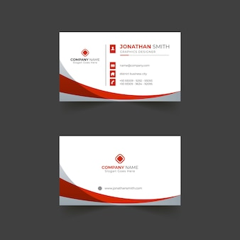 Modern business card template design with shapes