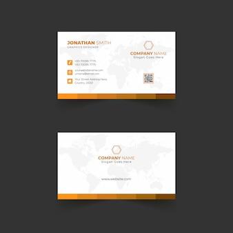 Modern business card template design