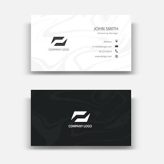 Современный дизайн шаблона визитной карточки