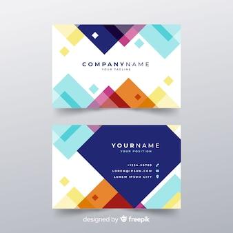 Modern business card template in flat design