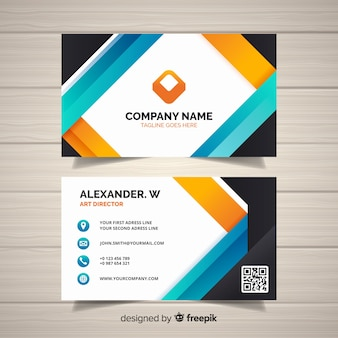 Modern business card template in flat design