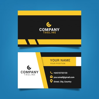 Modern business card template graphic design illustration