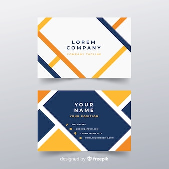 Modern business card template in abstract style