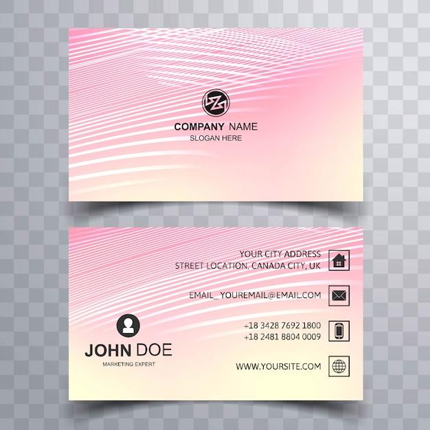 Современный дизайн шаблона для визитных карточек