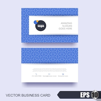Modern business card template with abstract background