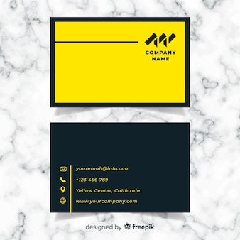 Modern business card template with abstract design