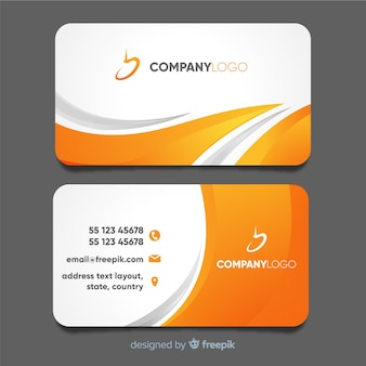 Business card vectors photos and psd files free download modern business card template with abstract design flashek