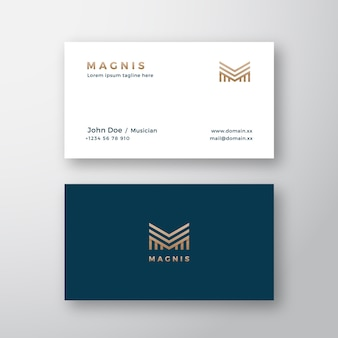 Modern business card template with abstract geometry