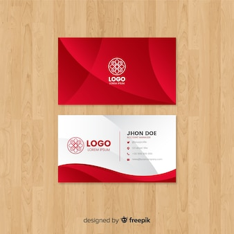Business card vectors photos and psd files free download modern business card template with abstract shapes maxwellsz