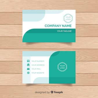 Modern business card template with abstract shapes