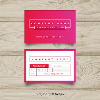Modern business card template with colorful design