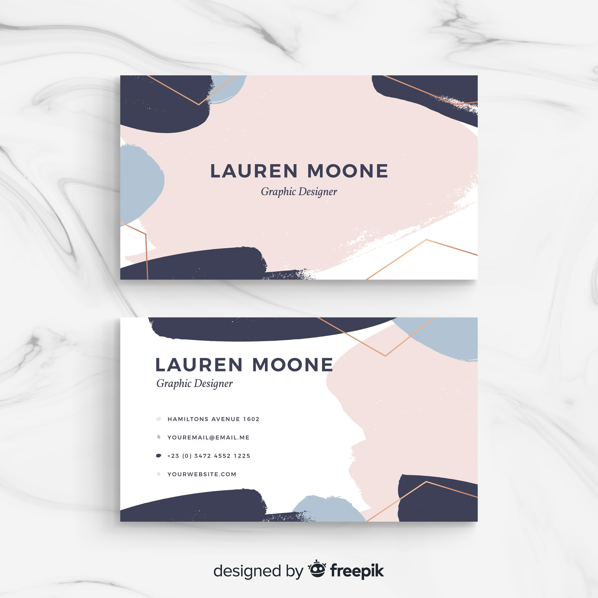 Modern business card template with colorful style