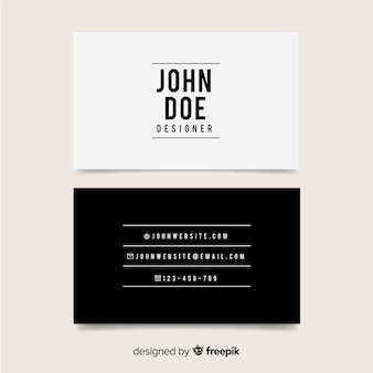 Modern business card template with elegant design