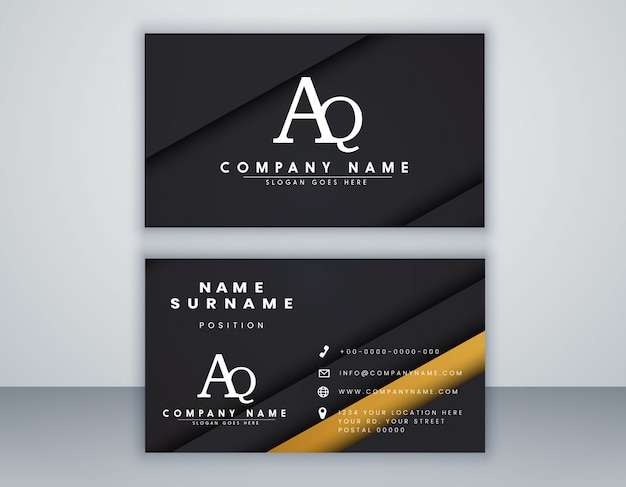 Modern business card template with elegant element composition design clean concept