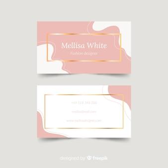 Современный шаблон визитной карточки с элегантным стилем