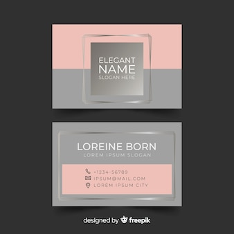 Modern business card template with elegant style