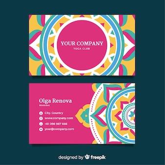 Modern business card template with mandala