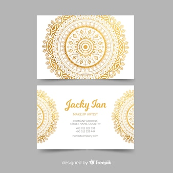 Modern business card template with mandala