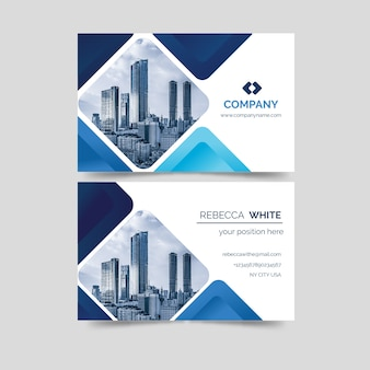 Modern business card template with photo