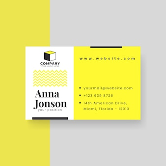 Modern business card template with waves