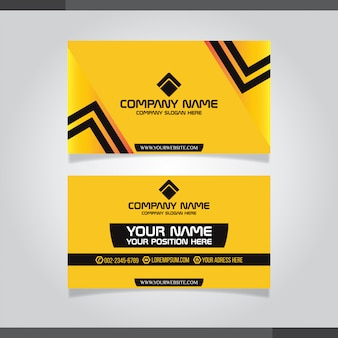 Modern business card template yelllow colors