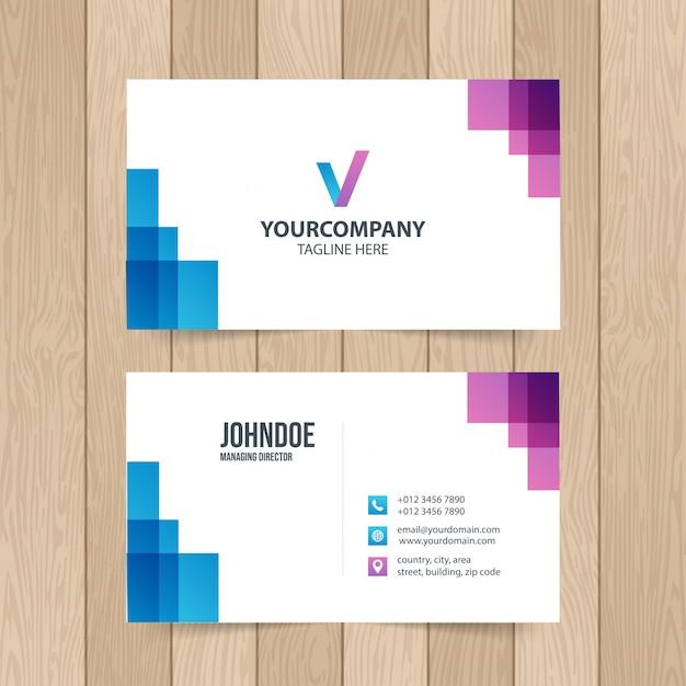 Modern business card template
