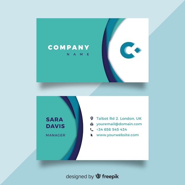 Free Modern Business Card Template Svg Dxf Eps Png Free Svg Cut