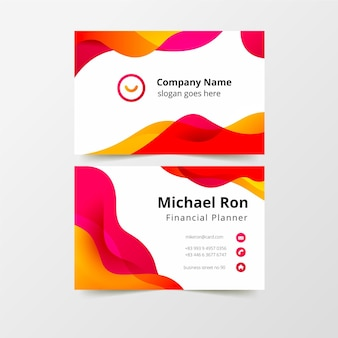 Modern business card template Premium Vector