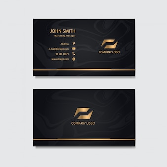 Modern business card template .