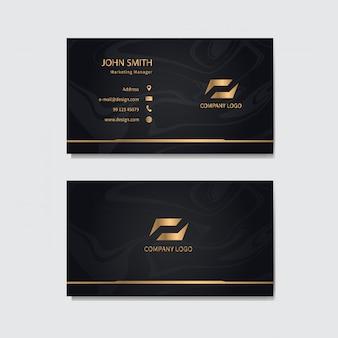 Современный шаблон визитной карточки.