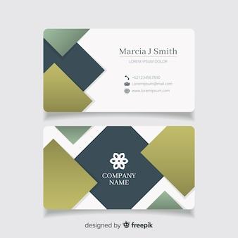 Современная визитная карточка с абстрактным дизайном