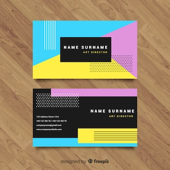 Modern business card with abstract design