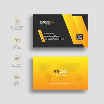 Modern business card with awesome gradient color
