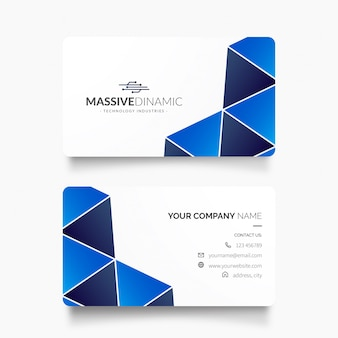 Modern business card with circuit diagram logotype