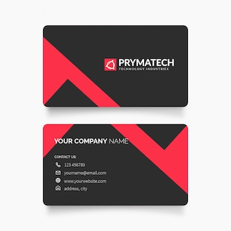 Modern business card with clean design