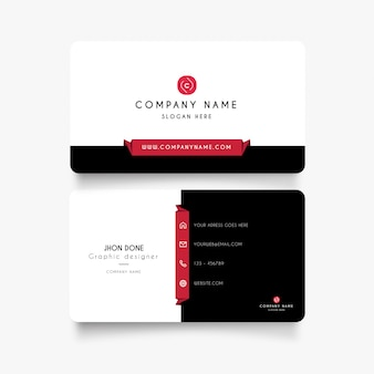 Modern business card with clean