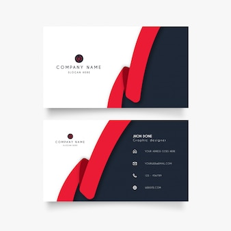 Modern business card with creative