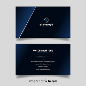 Modern business card with elegant style