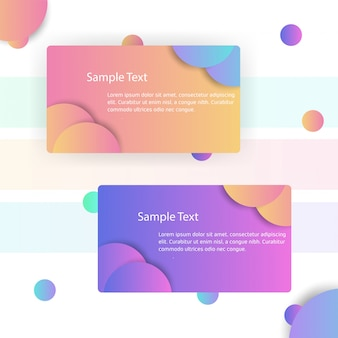 Modern business card with grandient shapes