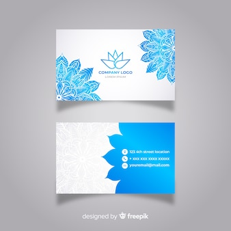Modern business card with mandala
