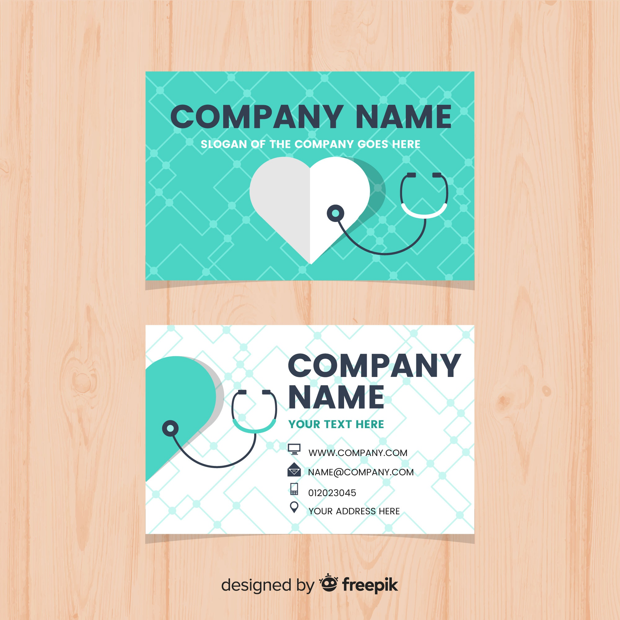 Modern business card with medical concept