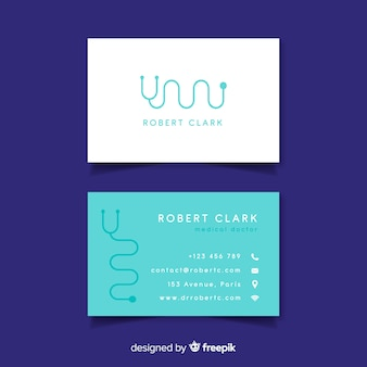 Modern business card with medical design