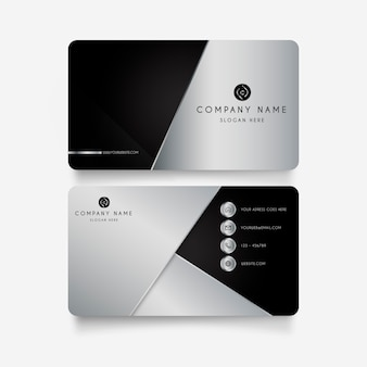 Modern business card with metal shapes
