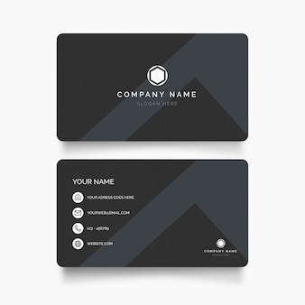 Modern business card with minimal design
