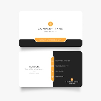 Modern business card with minimal