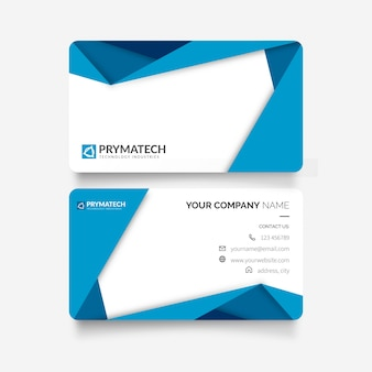 Modern business card with papercut shapes
