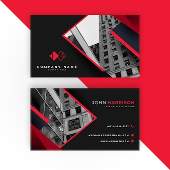 Modern business card with photo