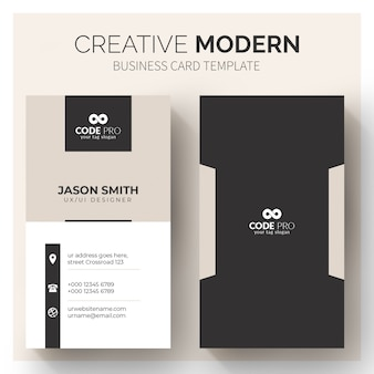Modern business cards template