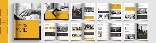Modern business catalog or booket template